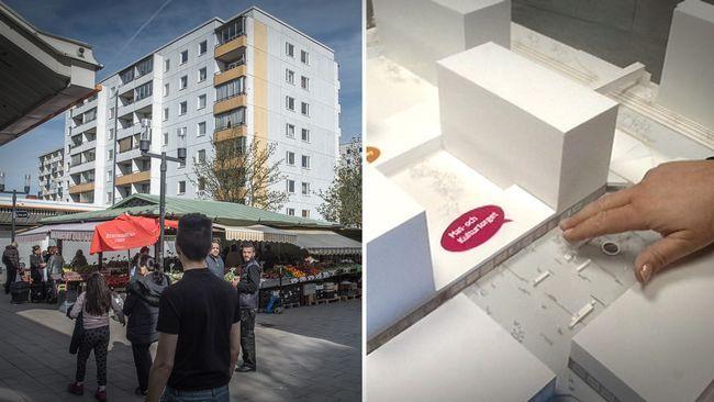 Kvinnor känner sig utstirrade och otrygga när de går över torget i Husby centrum. I ett försök att bryta mansdominansen på allmänna platser i stadsdelen kommer därför Svenska Bostäder, för första gången i Sverige, att anpassa ett centrum efter en feministisk stadsplanering. Bland annat kommer man att flytta på ett café där det sitter mycket män.