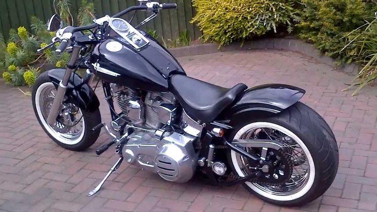Harley Davidson 1986 Fxst softail bobber chopper hotrod custom 240 ...
