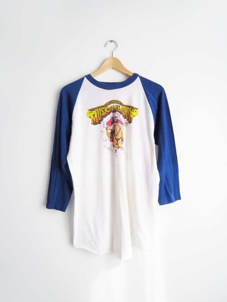 Music in the Meadows T // Vintage Baseball Music Festival T-Shirt