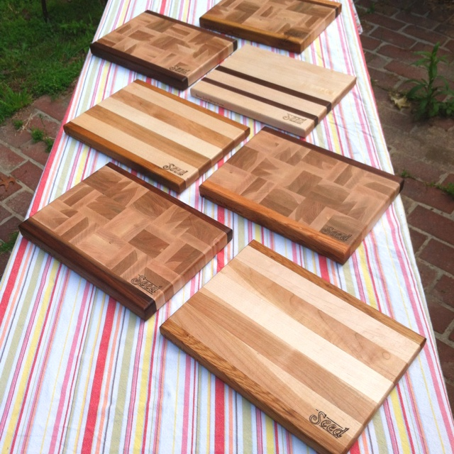 Serving boards handcrafted in Florence, AL exclusively for Seed Kitchen and Bar in Marietta, GA.: Seed Kitchen, Design Studios