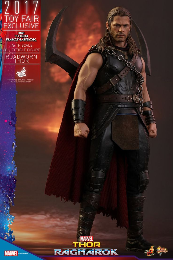 Hot Toys' first entry in its Thor: Ragnarok line is the Roadworn Thor 1/6 Scale Figure. It features an authentic likeness and accessories.