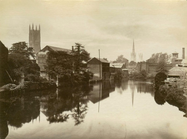 Derby UK. St Mary's and St Alkmunds churches in back ground