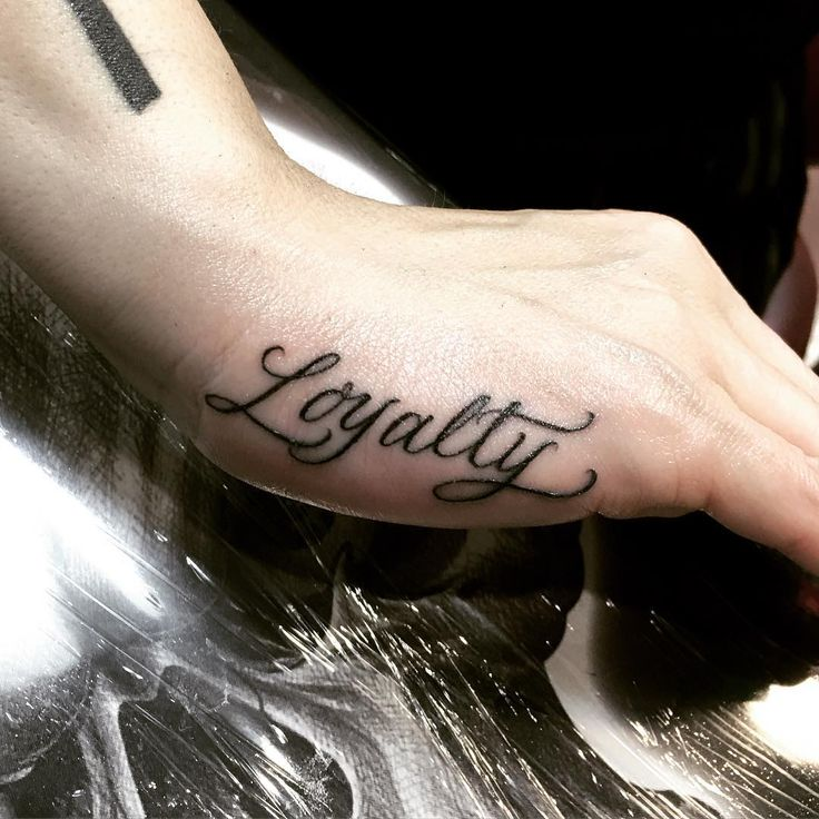 Loyalty hand #tattoo by Saul Lira -- Artist at Under The Gun Tattoo, LA  Saullira@yahoo.com