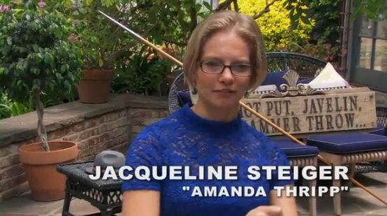 "And here's ""Amanda Thripp"" today. Still in glasses! 