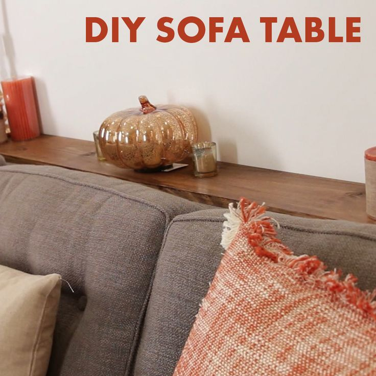 Make room for drinks and decor with this smart sofa table!