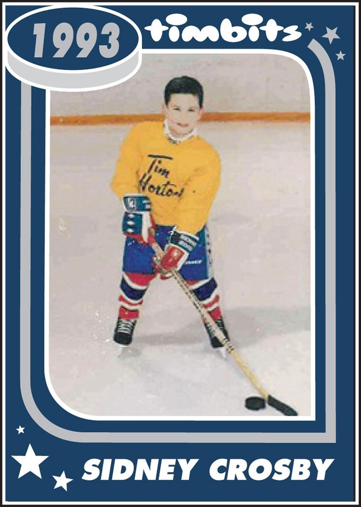 A five year old Sidney Crosby shows off his early hockey skills as a Tim Hortons Timbit Hockey player.