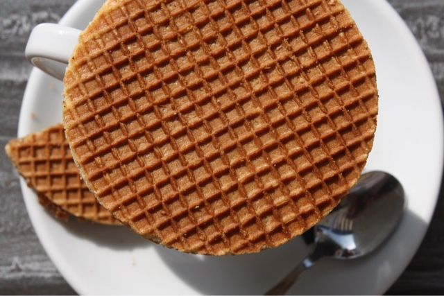 My Top 12 Dutch and German Culinary Specialties - Number 4: Stroopwaffel (thin waffle biscuits sandwiched together with caramel)