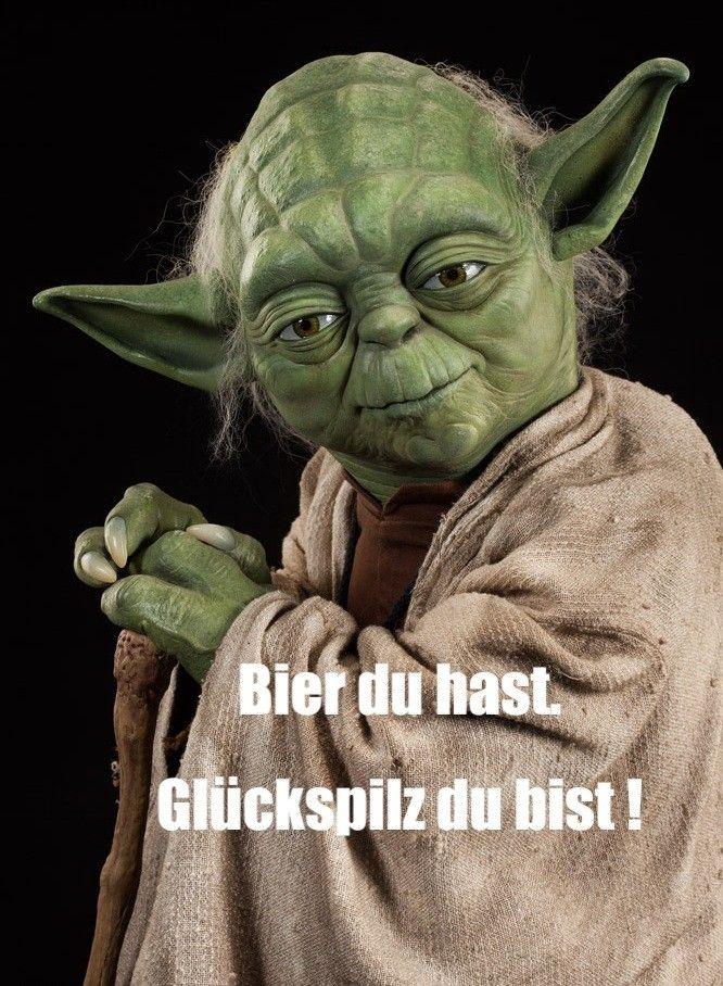 Bier lustig Star Wars Yoda sprüche, Star wars lustig