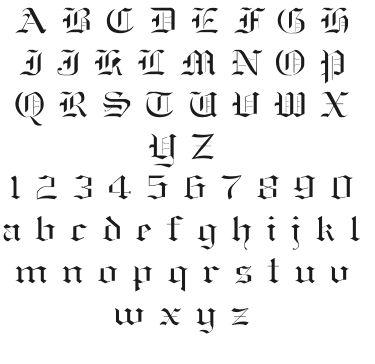 "3"" Old English Font Stencil Wall Letter Alphabet F346 | eBay"