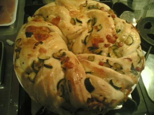 Torta Angelica Salata con Speck e Cipolla
