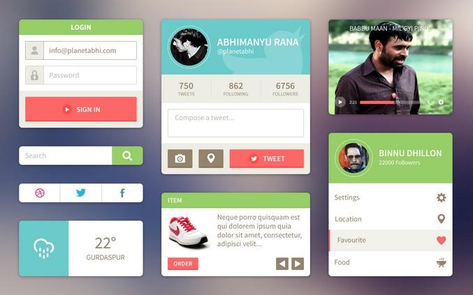 #Flat #Design | Ui Kit