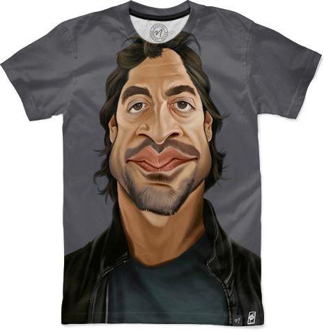 Celebrity Sunday - Javier Bardem by Rob P Snow - Men's T-Shirts - $49.00