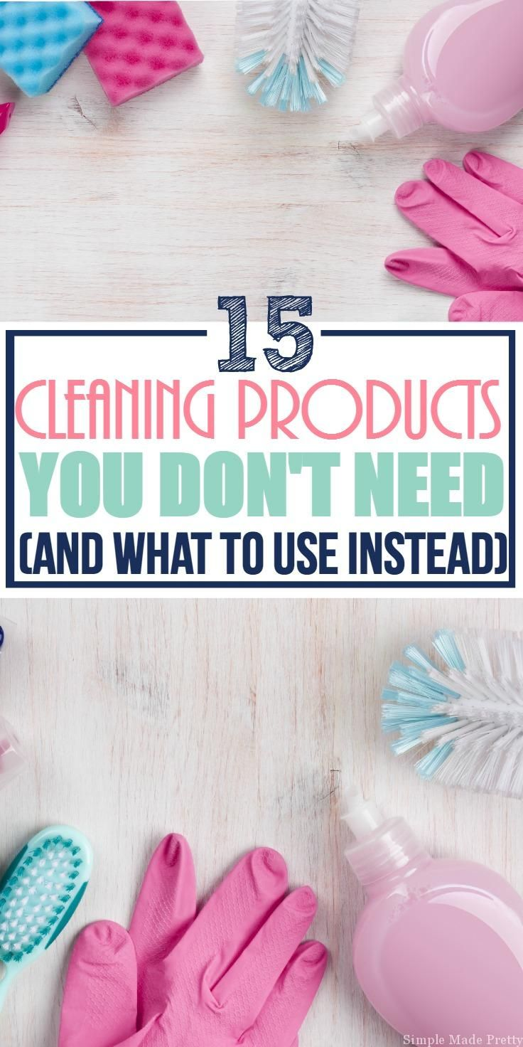 Clear the clutter by reducing the number of cleaning products you own! Since I started using essential oils in my cleaning products at home, I've been able to reduce our cleaning products. Clear the clutter, save your sanity, and remove chemical cleaning products from your home by following this guideline of 15 Cleaning Supplies You Don't Need (and what to use instead). Keep reading for cleaning tips and hacks using every day household products to clean your home!