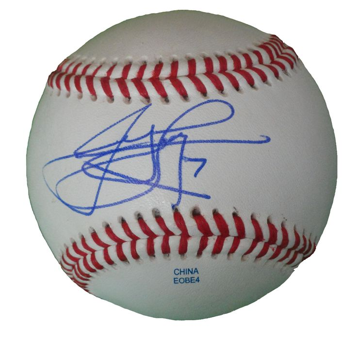 James Loney Autographed Rawlings ROLB1 Leather Baseball, Proof Photo