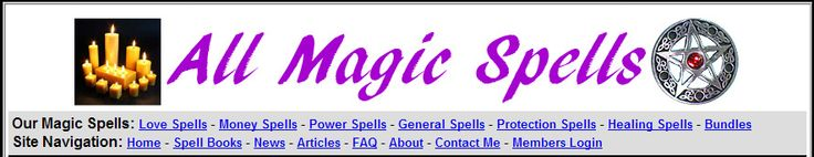 All Magic Spells - Discover The Amazing Truth About Real Magic Spells, And How You Can Achieve Everything You've Ever Wanted... Love, Money, Power, Success... Everything. http://fbshare.info/magic-spells-for-love-money-power-and-more