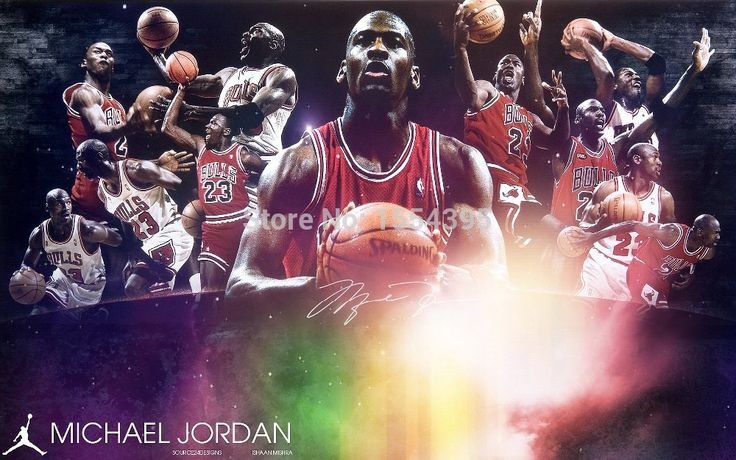 Custom Michael Jordan Wall Sticker 23 Shot Classical Chicago Bulls Wallpaper (50x75cm)  Home Decor Jordan Retro Poster  U1-265