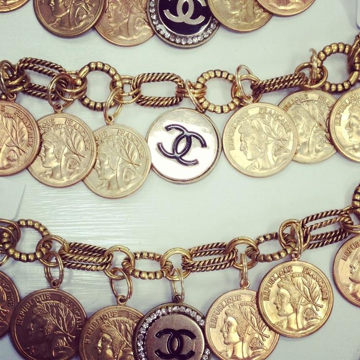 A True Gem....Authentic Chanel Button Coin Bracelet