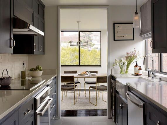 Mb Simple Kitchen Narrow Kitchen Simple Lines California Home Design Interior