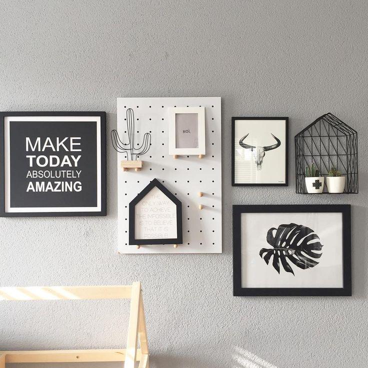#kwantuminhuis Wanddecoratie BLAD, Metalen huisje en DRAADCACTUS > https://www.kwantum.nl/wonen/woondecoratie @huizstyl