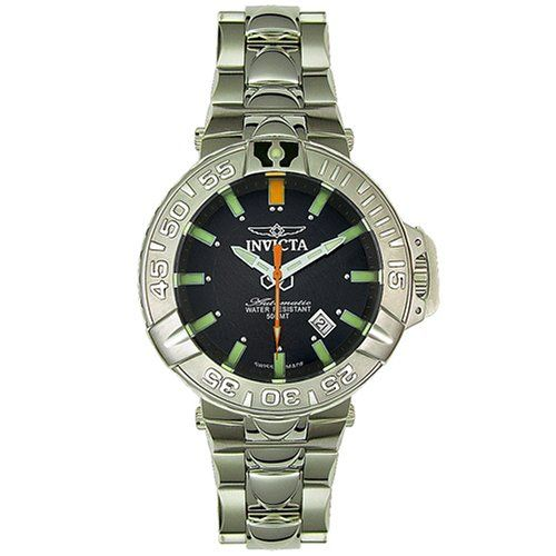 Invicta Men's 3039 Subaqua Collection Noma II Automatic Watch. Quality Swiss Automatic movement; Functions without a battery; Powers automatically with the movement of your arm. Mineral crystal. Case diameter: 47 mm. Stainless-steel case; Black dial; Date function. Water-resistant to 1640 feet (500 M).