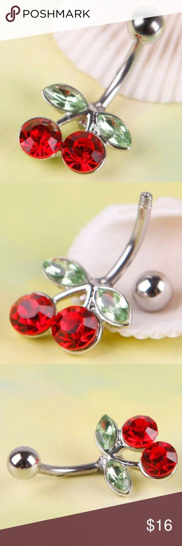 Rote Kirschen Bauchnabelpiercing / Nabel Barbell NETT! Dieser Piercing-Ring …   – My Posh Closet