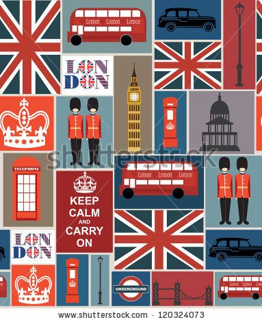 london seamless pattern design. vector illustration by kearia, via Shutterstock