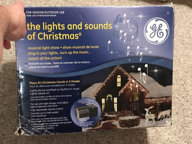GE Pro Line The Lights and Sounds of Christmas Musical Light Show w/ 20 Carols. | eBay