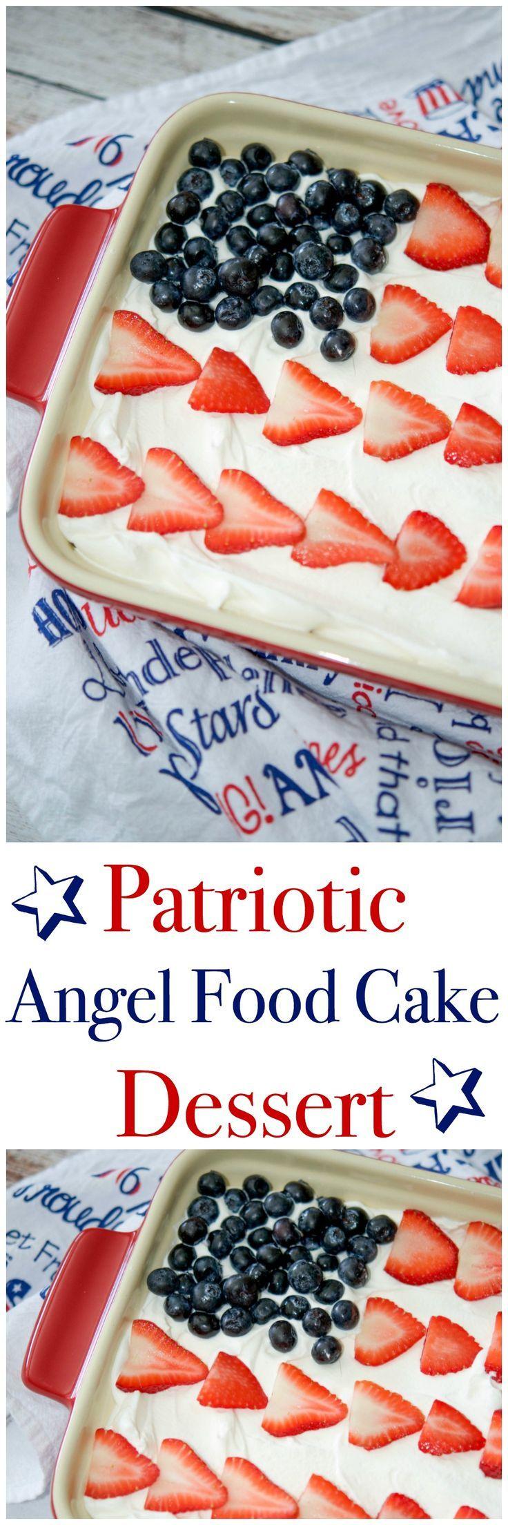 Angel Food Flag Cake Recipe — Dishmaps