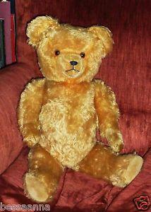 Old Vintage Golden Brown Teddy Bear 25 Inches | eBay