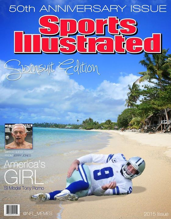 Tony Romo 50th Anniversary Issue Cover Special. -NFL Memes