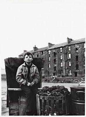 Boy and Brazier, Gorbals, Glasgow,1968. Oscar Marzaroli.