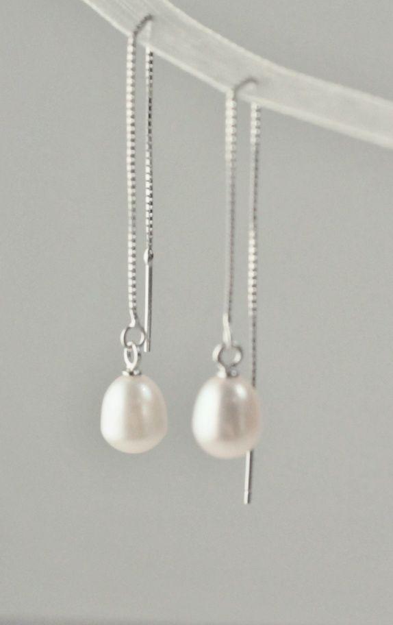 """""""Lille"""", sterling sølv og ferskvannsperler"""