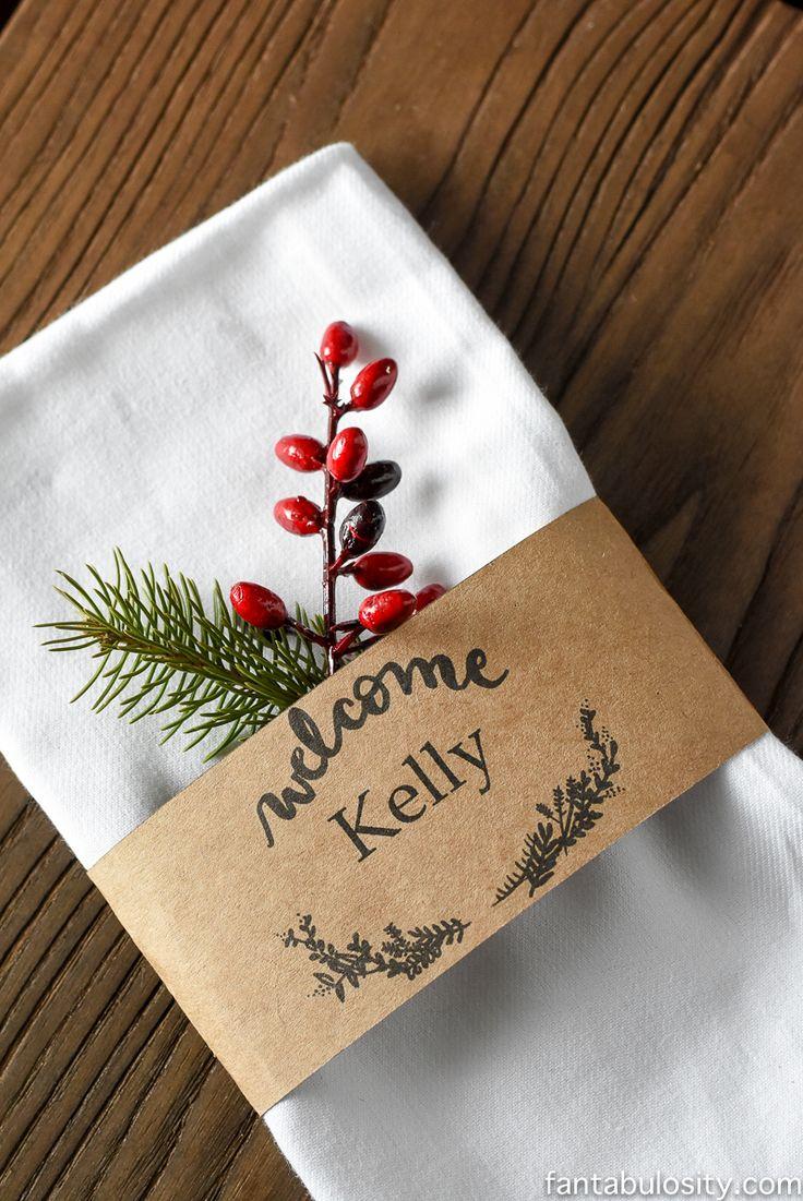 25 unique christmas place cards ideas on pinterest xmas. Black Bedroom Furniture Sets. Home Design Ideas