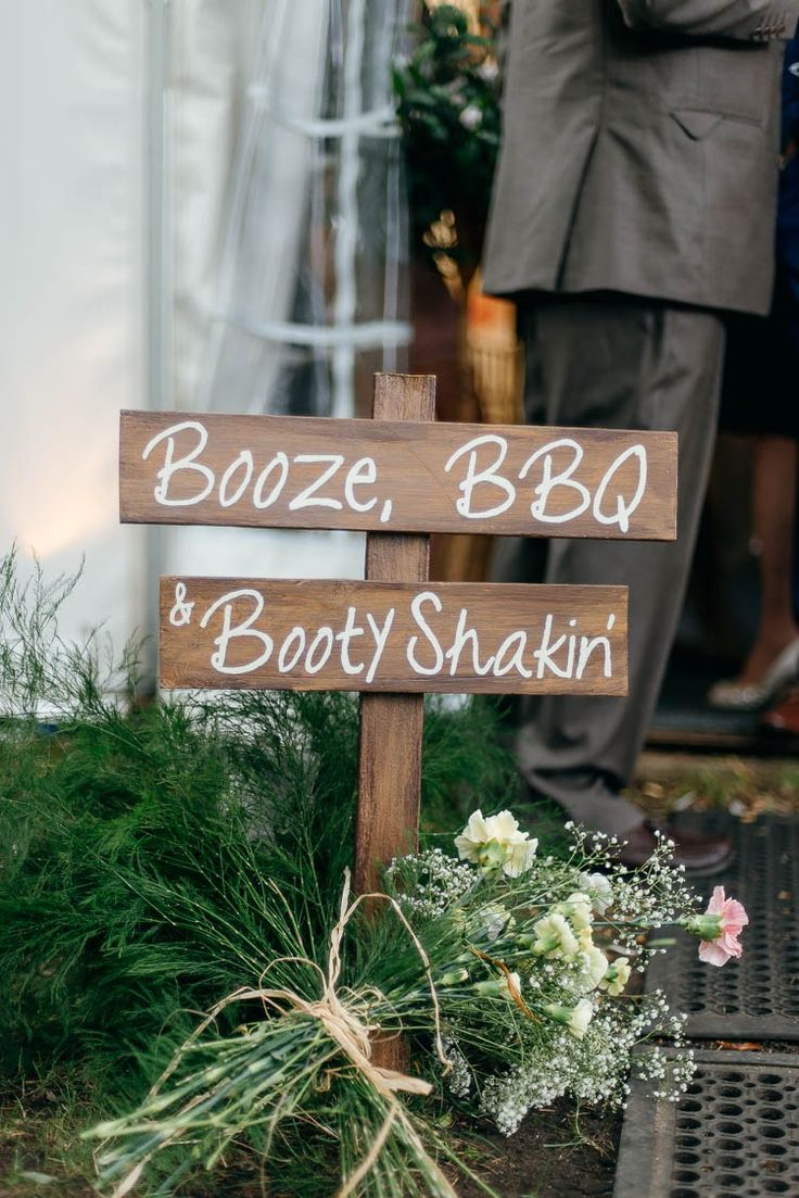 Rustic Wooden Sign Painted Home Made Garden Party Wedding www.purplepeartreephotography.com