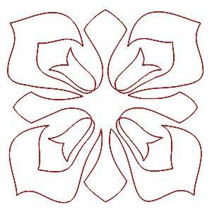Tulipánky - čtverec