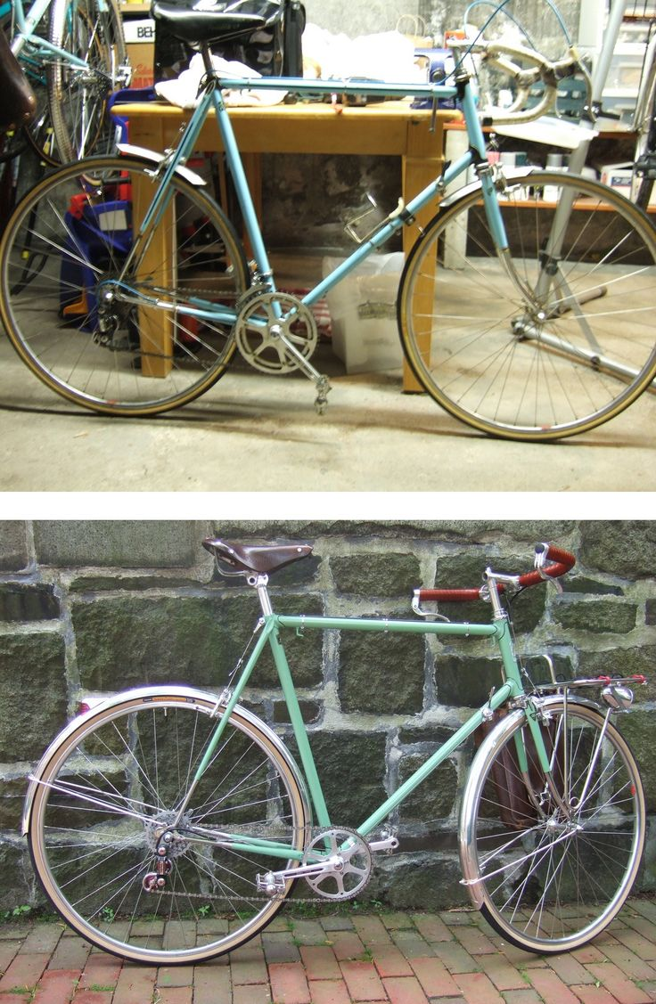 1984 shogun repaint and refurb into porteur by southpawboston gorgeous work beautiful fender line beautifulclassicvintagebicycle