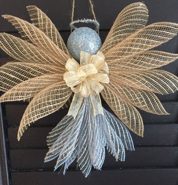 Angels  Deco Mesh by Craftnrelax on Etsy