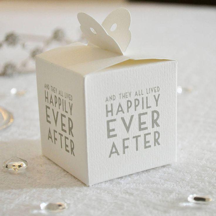 Wedding Favour Boxes - Set Of Eight