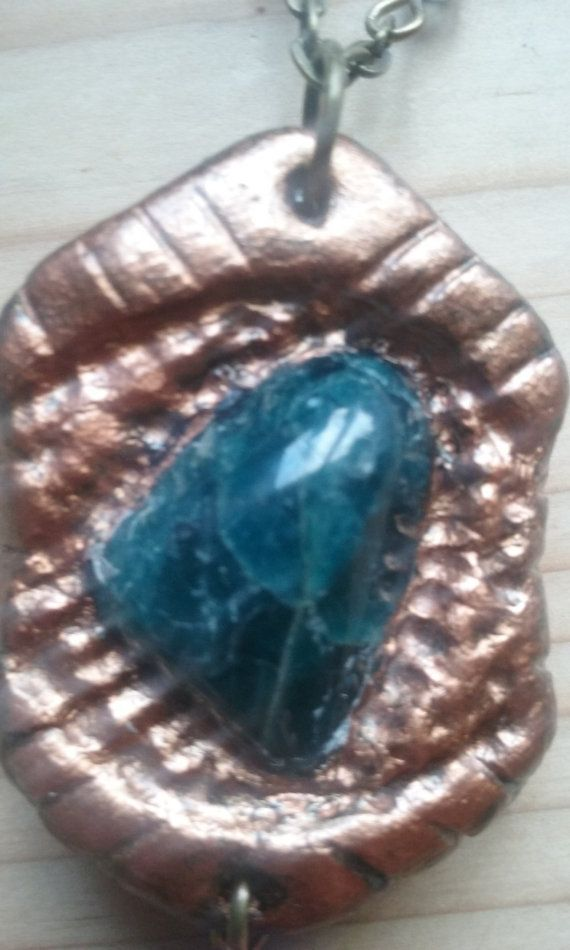 Blue Apatite pendant/necklace make in a old by CelticGoddessCosmos