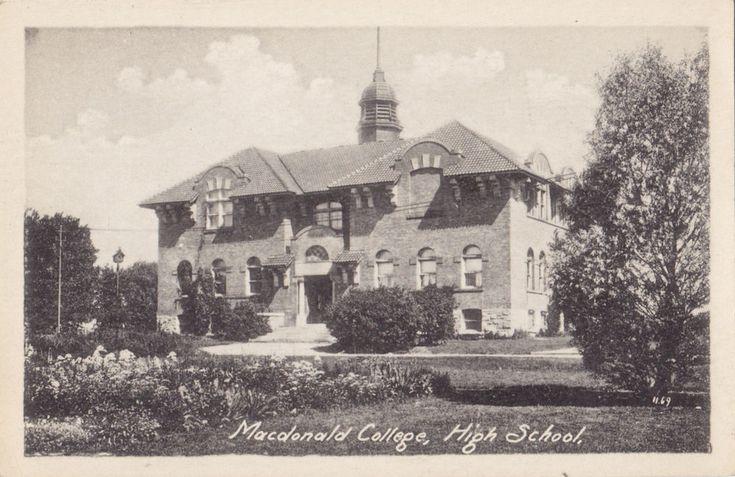 High School Macdonald College STE ANNE DE BELLEVUE Quebec 1910-20s Heliotype Co. | eBay