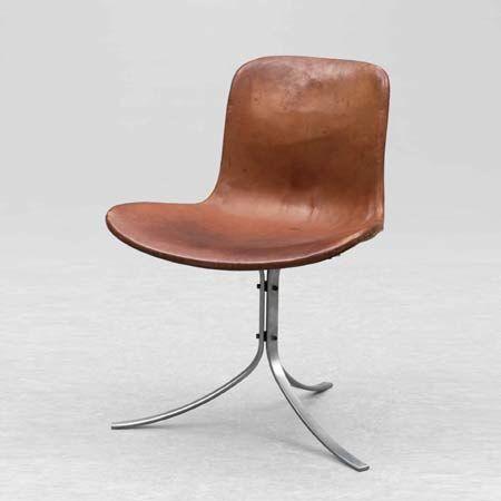 Poul Kjaerholm, P-K9 chair,  Year 1960   Manufacturer E. Kold Christensen
