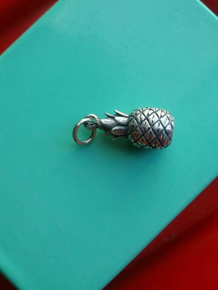 RETIRED RARE James Avery Pineapple Charm Sterling Silver .925 Charm in Jewelry & Watches, Fine Jewelry, Fine Charms & Charm Bracelets | eBay