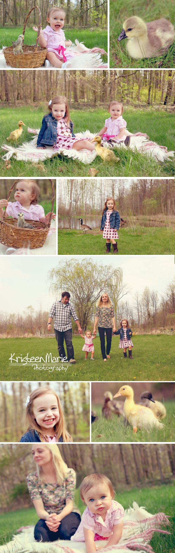 Family Easter Pictures - chicks and ducks and all!