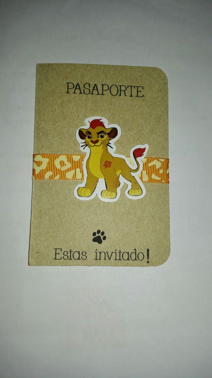 Invitacion pasaporte guardia rey leon kyon