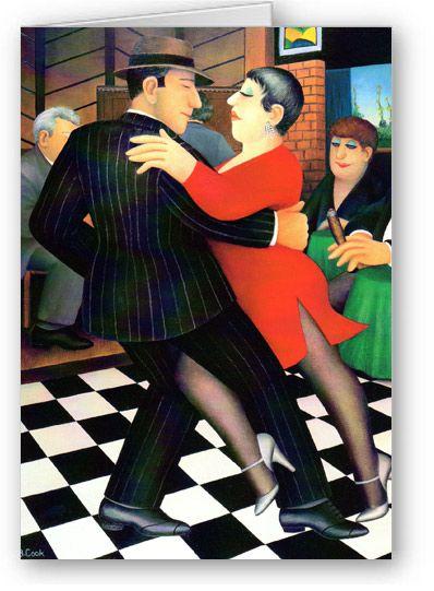Beryl Cook ~ Tango Bar.