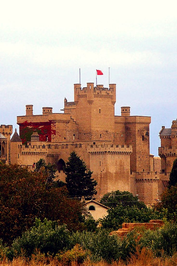 """Palace of the Kings of Navarre of Olite, Spain A German traveler once wrote: """"Surely there is no king with a more beautiful castle or palace and with so many gilded rooms ... it could not say or even could imagine how magnificent and sumptuous is this palace"""""""