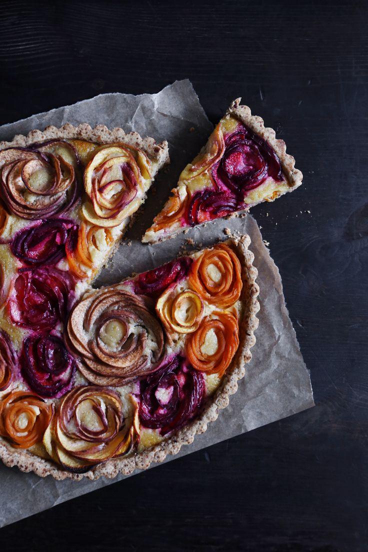 A beautiful almond tart that's better than a bouquet of flowers