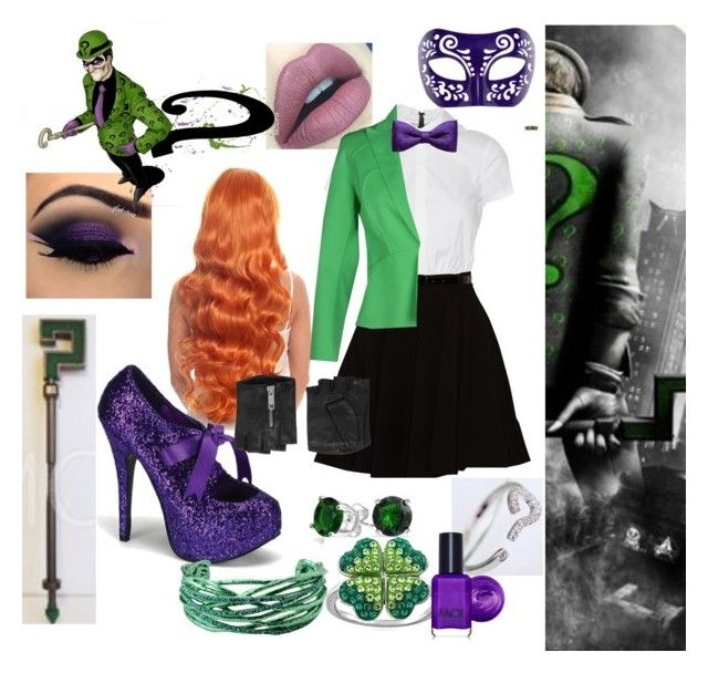 """Female Riddler - Batman"" by chandlers-bae ❤ liked on Polyvore"