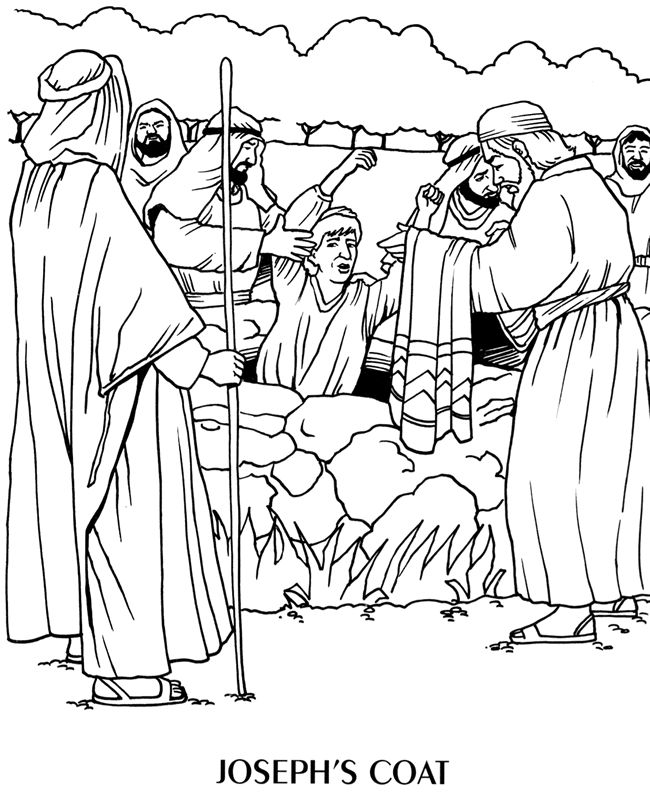 Joseph Being Lowered Into A Well Bible Coloring Pages