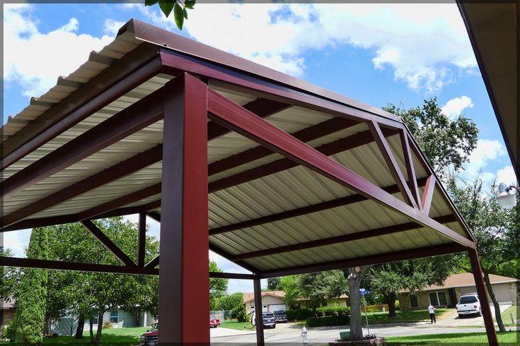 Free Standing Steel Carport Pictures- Kirby Job - San Antonio Texas